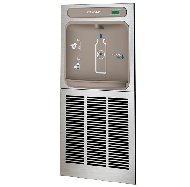 Estación para llenado de botellas de agua empotrable Elkay, modelo EZH2O, vista lateral 2