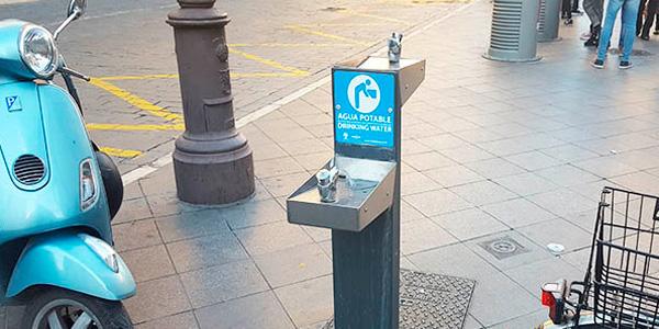 Bebedero de Agua En La Via Publica