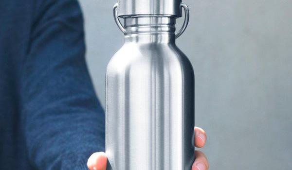 Botellas de agua reutilizables de acero inoxidable