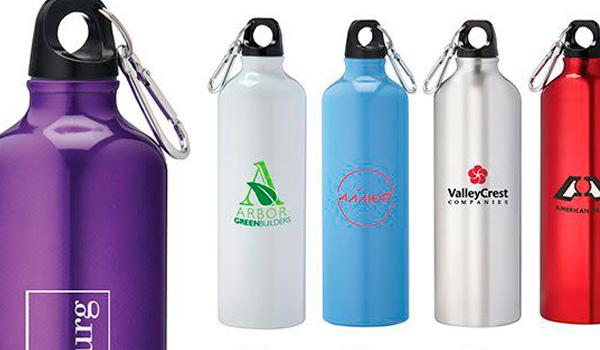 Botellas de agua reusables de aluminio