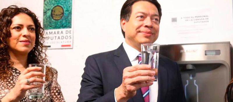 Camara de diputados estrena bebederos de agua
