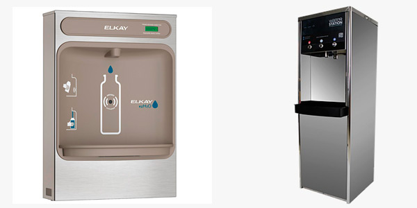 Estación llenadora de de botellas Elkay y dispensador de agua WaterStation Serie III