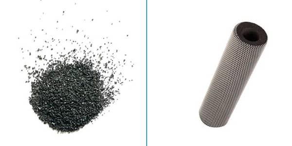 Carbón activado granular vs carbón activado en bloque