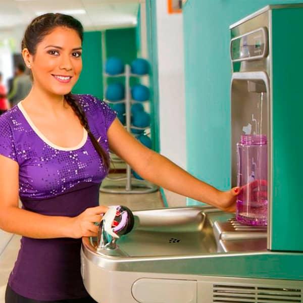 Bebederos de agua para gimnasios